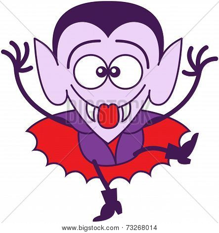 Halloween Dracula making funny faces