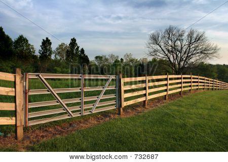 New Gate And Fence