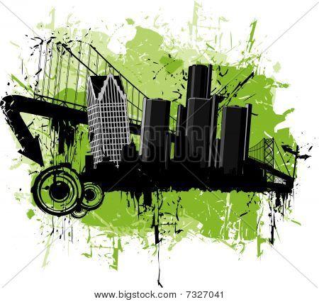 Grunge Scene of Detroit