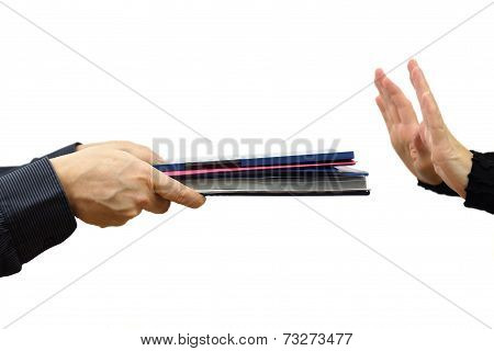 Woman Refuse  Work And Papers