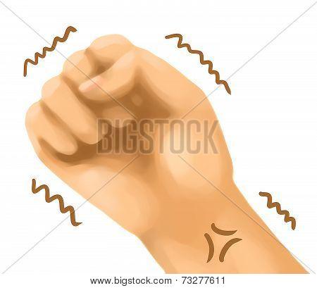 hand sign emotion stress