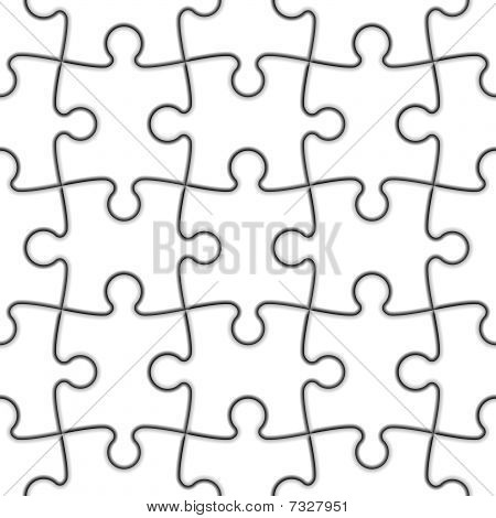 Seamless Jigsaw Puzzle. Vector.