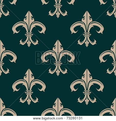 Classic Fleur de Lys seamless background pattern
