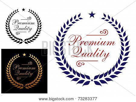 Premium quality laurel wreath logo or emblem