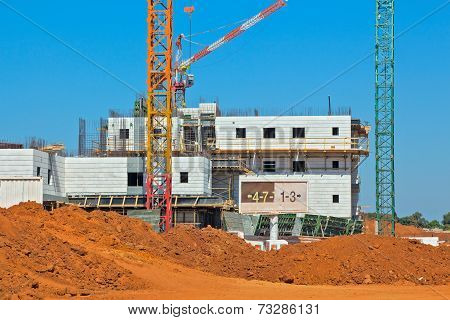 Construction of a residential area.