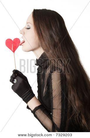 Pretty Girl Licking Lollipop