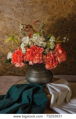 Still Life With A Beautiful Flowers