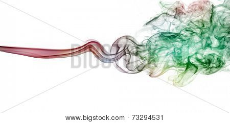 Coloured smoke, red, greeb