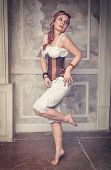 pic of minx  - Beautiful steampunk woman with pink hair posing - JPG