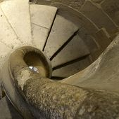 picture of spiral staircase  - spiral staircases in the ruins of Santa Maria Cazorla - JPG