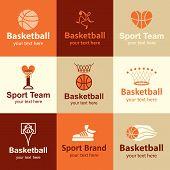 pic of basketball  - basketball flat icons set logo ideas for brand - JPG