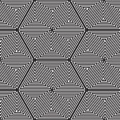 stock photo of psychodelic  - Abstract vector background with spiral with straight lines - JPG