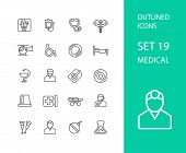 picture of roentgen  - Outline icons thin flat design - JPG