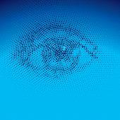 image of binary code  - Eye drawn with binary codes - JPG