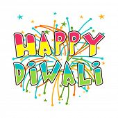 foto of diwali  - Diwali celebration with stylish text of Happy Diwali - JPG