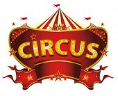 image of cabaret  - Red circus sign - JPG