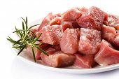 picture of turkey-hen  - Raw turkey meat on white background - JPG