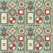 pic of viking  - Seamless viking pattern can be used for graphic design - JPG