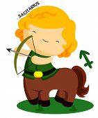 picture of centaur  - a centaur describing the zodiac sign sagittarius - JPG