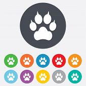 picture of clutch  - Dog paw with clutches sign icon - JPG