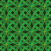 image of wiccan  - stylized celtic pattern on dark green background - JPG