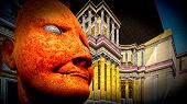 picture of mussolini  - Portrait of dictator in  colosseum - JPG