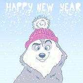 image of husky  - cartoon cute and funny husky dog - JPG