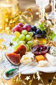 pic of fruit platter  - Cheese platter for Christmas - JPG