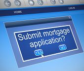 image of deed  - Illustration depicting a computer screen capture with a mortgage concept - JPG