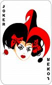 image of joker  - Joker game card with the image of the red and white joker - JPG
