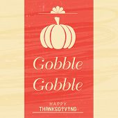 Beautiful poster, banner or greeting card design on occasion of Thanksgiving Day with pumpkin and te poster