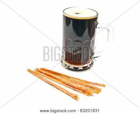 Fish Appetizer And Mug Of Beer