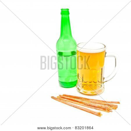 Light Beer And Fish Snack