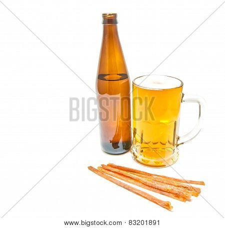 Fish Snack And Light Beer