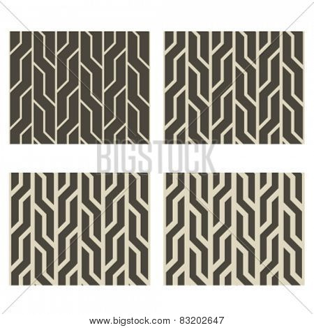 vector monochrome line seamless background