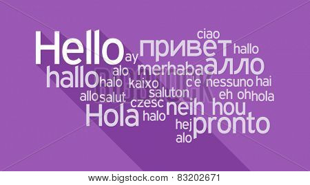 Hello speech cloud in languages of the world