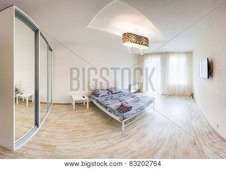 Interior design. Big modern Bedroom