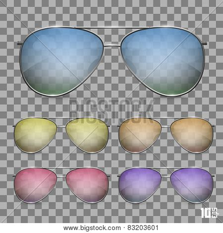 Sunglasses color object