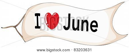Illustration of I love June banner