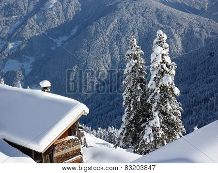 Ski hut in the Tyrolean ski resort