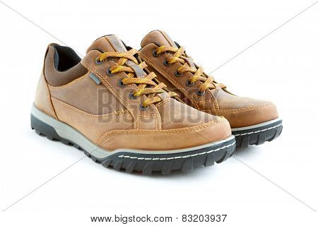 isolated on white male modern style jogging shoes