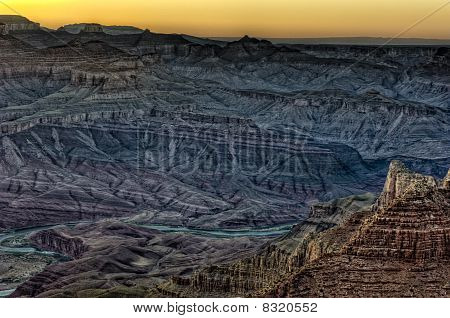View Of Grand Canyon And River