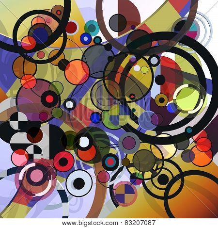 Circles illustration 3D