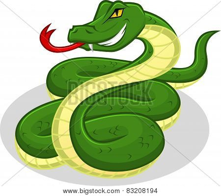 High Quality Snake Vector Cartoon Illustration