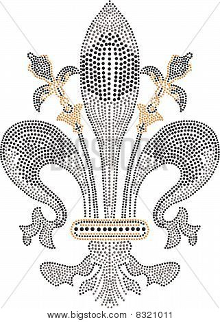 fleur de lis beaded artwork