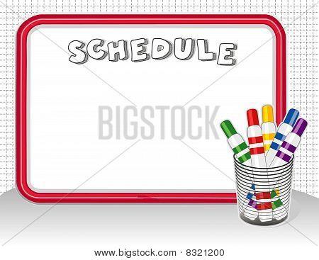 Whiteboard Schedule