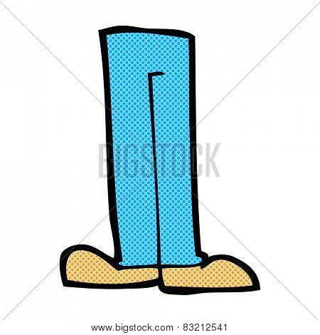 retro comic book style cartoon legs