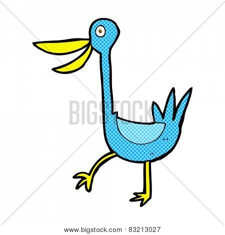 funny retro comic book style cartoon duck