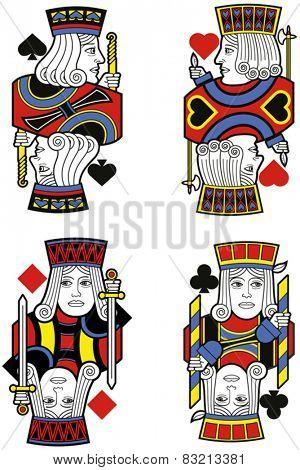 Four Jacks without cards. Original design