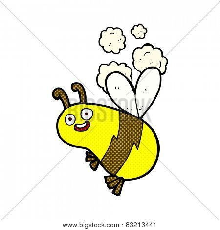 funny retro comic book style cartoon bee